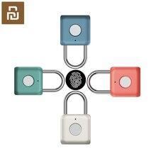 Youpin USB ชาร์จ Smart Keyless อิเล็กทรอนิกส์ล็อคลายนิ้วมือ Home Anti Theft ความปลอดภัยประตูล็อคกระเป๋าเดินทางล็อค