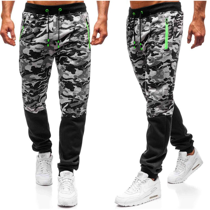 2019 Tactical Pants Army Male Camo Jogger Plus Size Cotton Trousers Many Pocket Zip Military Style Camouflage Black Men's Cargo
