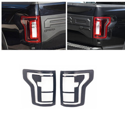Car ABS Rear Tail Light Lamp Cover Trim For Ford Raptor F150 2015 2016 2017 2018