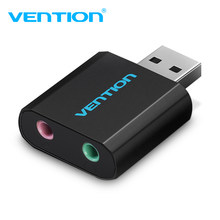 Vention USB Kartu Suara USB Antarmuka Audio Headphone Adaptor Sound Card untuk MIC Speaker Laptop PS4 Komputer Kartu Suara Eksternal(China)