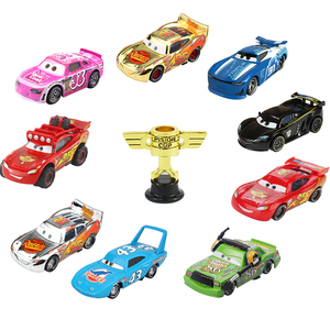 Disney Pixar Cars 2 3 Lightning McQueen Piston Cup 1:55 Vehical Model Car Toys New Year Gift for Children