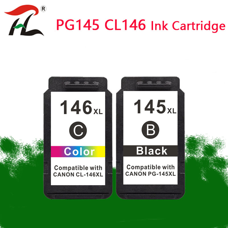 Compatible 145XL 146 XL Cartridge Replacement For Canon PG145 PG-145 PG 145 For Pixma Mg2410 MG2410 MG2510 Printer