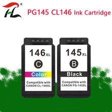 Картридж для Canon PG145, совместимый с 145XL, 146 XL, сменный картридж для принтеров pixma mg2410, MG2410, MG2510