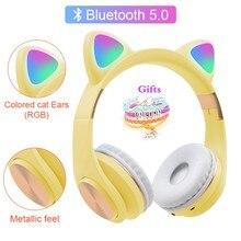 Écouteurs Bluetooth avec micro, Bracelet en métal, Texture CD, casque sans fil, basse, téléphone, musique, pour enfants