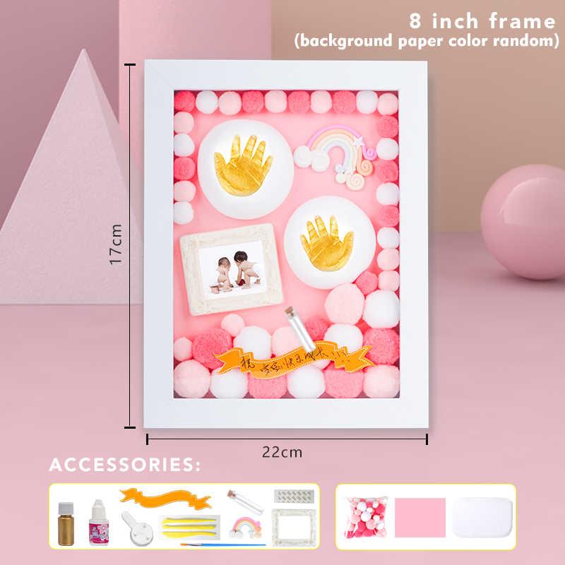 Diy Bayi Baru Lahir Kaki Tangan Print Photo Frame Anak-anak Gadis Anak Laki-laki Kit Jejak Barang Hadiah Aksesoris Set Souvenir Meja Dekorasi