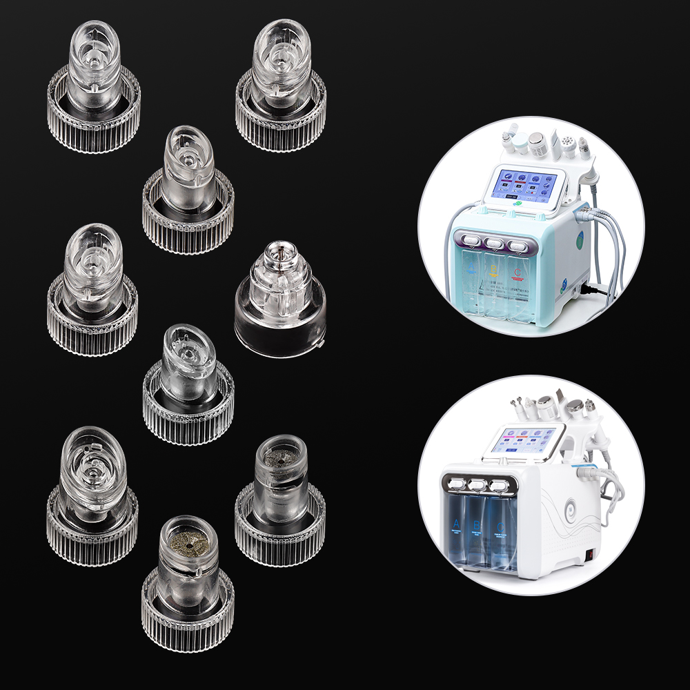 5Set 9PCS/Set Hydra Facial Device Tips Head Replacement For Water Oxygen Dermabrasion Machine Skin Cleansing Peeling Instrument