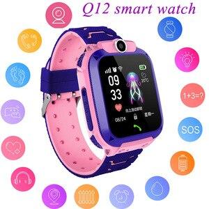Image 1 - ילדי GPS חכם שעון בני Watch ילדה של שעון תכליתי ילדי דיגיטלי שעוני יד תינוק שעון טלפון עבור IOS אנדרואיד ילדים