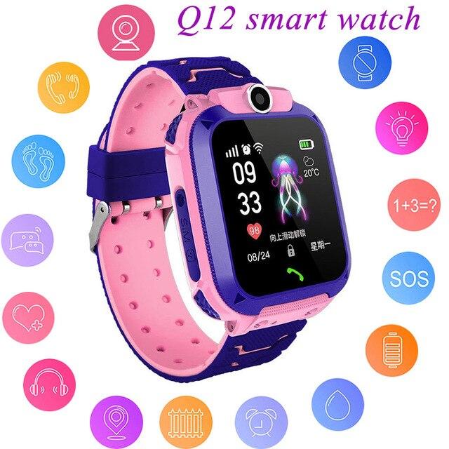 ילדי GPS חכם שעון בני Watch ילדה של שעון תכליתי ילדי דיגיטלי שעוני יד תינוק שעון טלפון עבור IOS אנדרואיד ילדים
