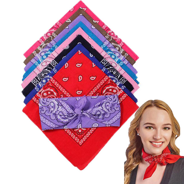 Fashion Hip Hop Cotton Paisley Bandana Headscarf Headband Printed Square Scarf Handkerchiefs Cycling Face Mask for Adults Kids 1