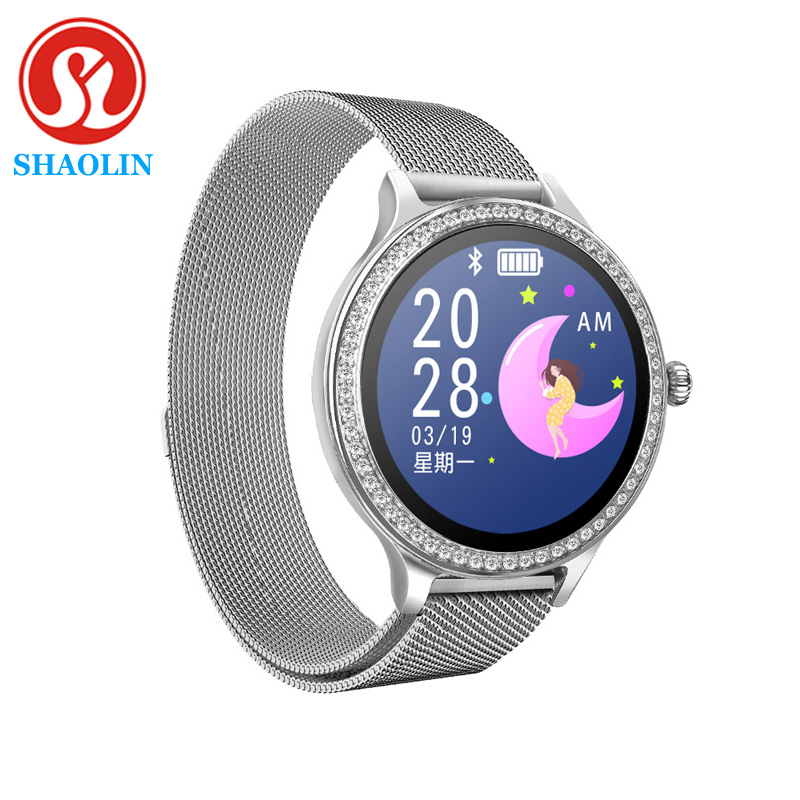Smart Watch Women IP68 Waterproof Long Standby 1.04 Inch Screen Heart Rate Monitor Smartwatch For Apple Andriod Ios Lady Watch