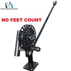 Image 4 - Maximumcatch di Pesca Manuale Downrigger con I Piedi Contatore Macchina CNC In Alluminio con Regolabile Trascinare e Smettere di Spille Trascinare Blocco