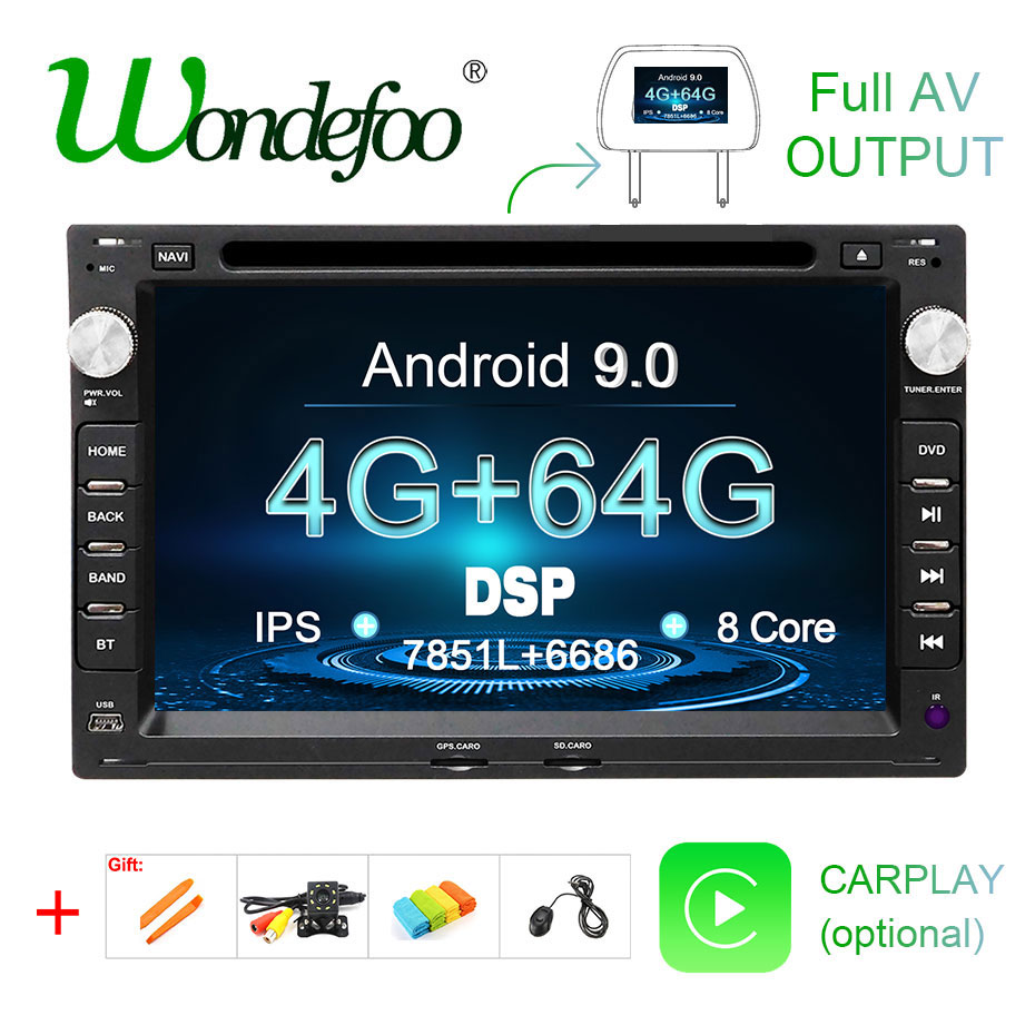 64G Android 9.0 DSP IPS DVD PLAYER For Peugeot 307 VW PASSAT B5 B4 JETTA BORA GOLF 4 SHARAN POLO MK5 MK4 MK3 T5 TRANSPORTER GPS-in Car Multimedia Player from Automobiles & Motorcycles    1