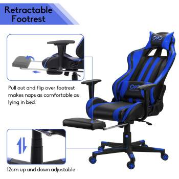 WCG Gaming Chair Computer Armchair Home Swivel Office Chair Lying Household Lifting Adjustable Desk Chair Racing Gamer Chair 2