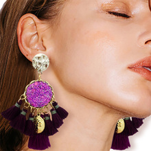 Earrings fashion stream comb net red leather new drape fresh earrings charm jewelry accessories ladies holiday gift direct