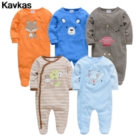Kavkas 2020 5pcs cotton cartoon animal pattern cute male baby high quality baby clothing