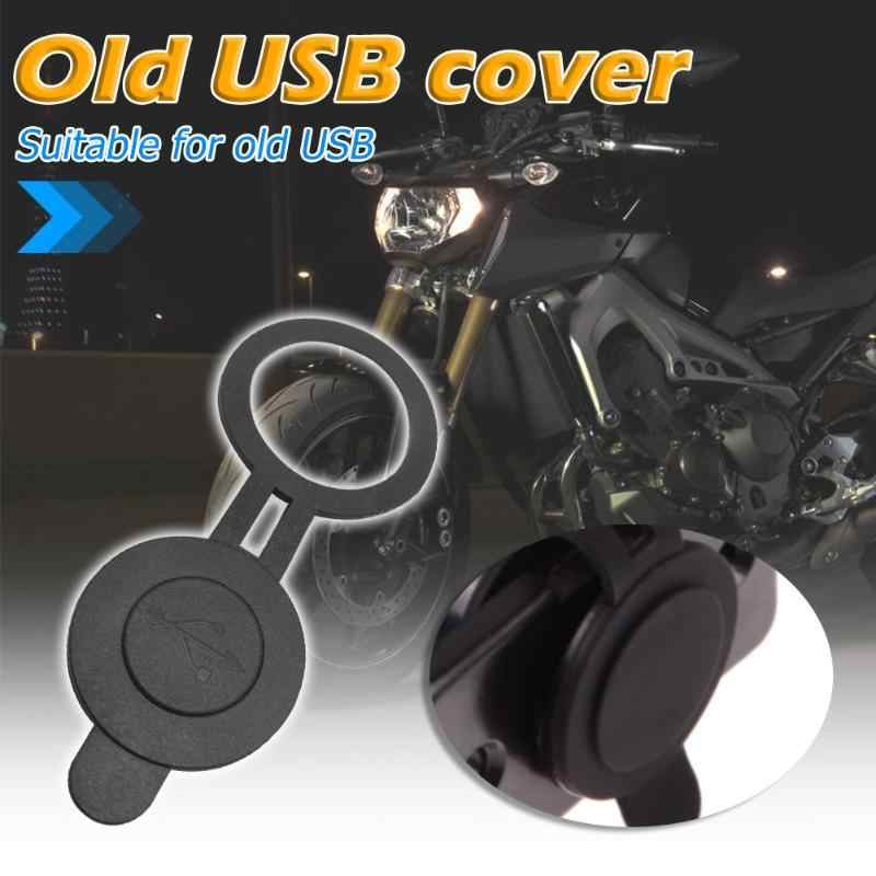 VODOOL 30mm Dia Round Waterproof Dust Proof Cover for Dual USB Car Truck Motorcycle Charger Adapter