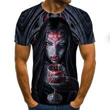 Camiseta casual da forma da impressão 3d do leite camiseta, hombre, horror