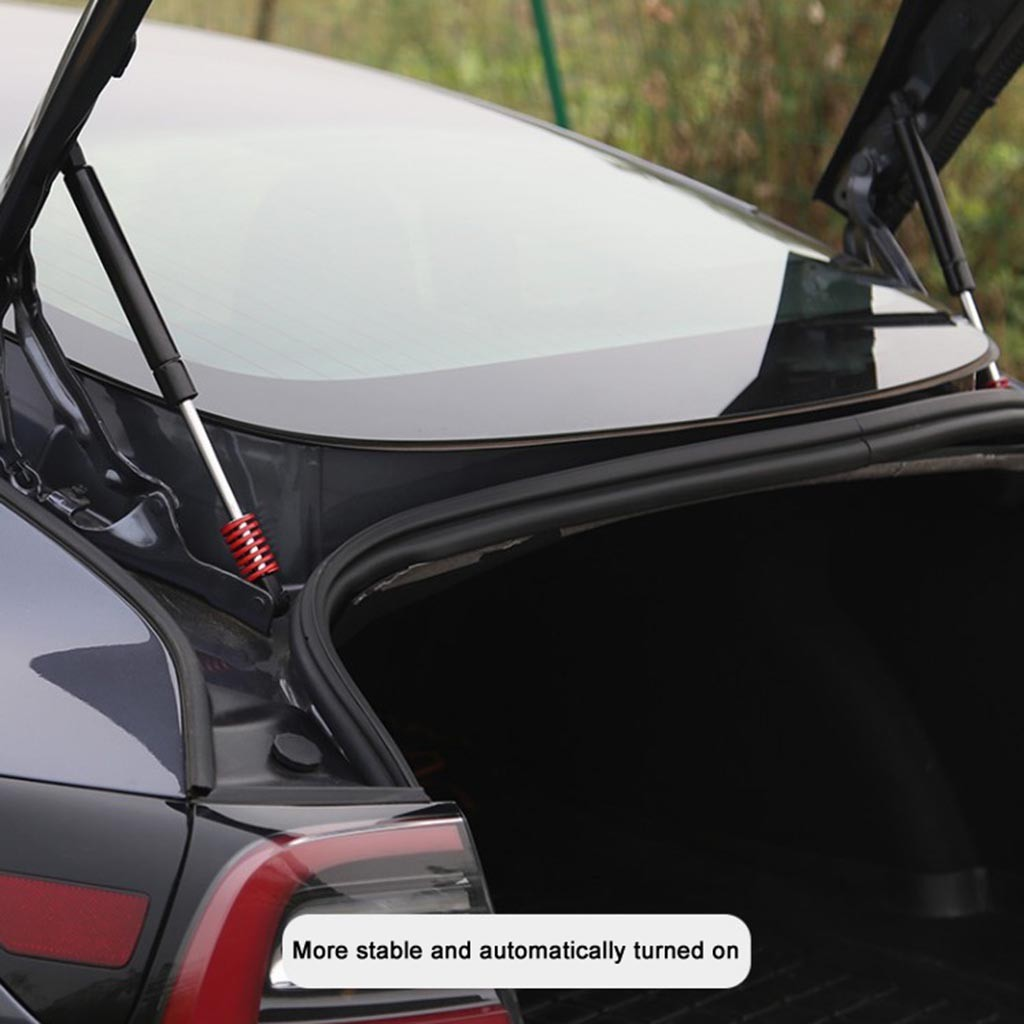 cheapest 2pcs Hood Bonnet Front   Automatic Rear Trunk Hold Up Support Lifts For Tesla Model 3 Air Spring For More Lifting Power P10