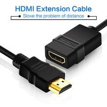 3FTสายต่อHDMI 1080P HDMIชายหญิงHdmiสำหรับแล็ปท็อปHD TV LCDโปรเจคเตอร์PS4/3 HDMI Extender