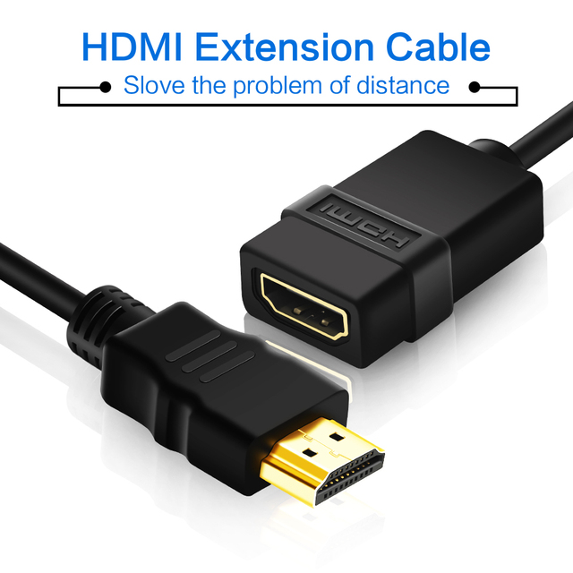 Extensión HDMI de 3 pies, 1080p, Cable de extensión HDMI macho a hembra, Hdmi para conector TV HD, LCD, portátil, proyector, PS4/3, extensor HDMI