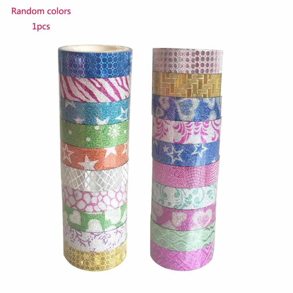 נצנצים Washi דביק נייר מיסוך דבק קלטת תווית DIY קרפט דקורטיבי DIY רעיונות קלטת ספקי
