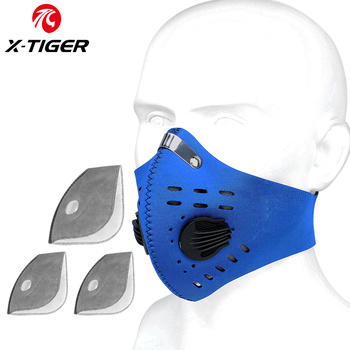 X-TIGER Cycling Face Mask PM 2.5 Bike Mask Activated Carbon Breathing Valve Sports Masks With Anti-Pollution Filter 21