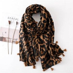 Image 1 - Foulard léopard pour femmes, Cheetah grande taille, imprimé Animal, châle, écharpe légère