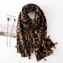 Sciarpa Del Leopardo per Le Donne di Grandi Dimensioni Cheetah Animal Print Sciarpe Dello Scialle Dellinvolucro Leggero