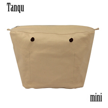 Canvas-Insert O-Bag Inner-Lining Mini Zipper-Pocket Waterproof with TANQU for Coating