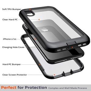 Image 4 - Ударопрочный чехол для iPhone 7 8 Plus X XS XR 11 Pro Max полный корпус Броня бампер противоударный Прозрачный чехол для 11pro Coque