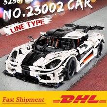 Lepining 23002 jouets de voiture technique compatibles avec MOC 10574 Koenigseggs un modèle de voiture blocs de construction briques enfants cadeaux de noël