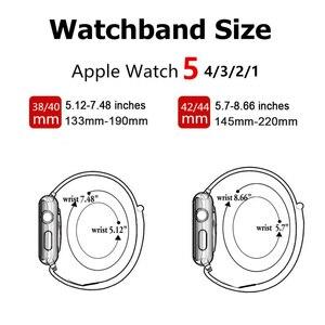Ремешок нейлоновый для apple watch Band 44 мм 40 мм, спортивный браслет для iwatch band 42 мм 38 мм, apple watch SE 6 5 4 3, новинка 2021|Ремешки для часов|   | АлиЭкспресс