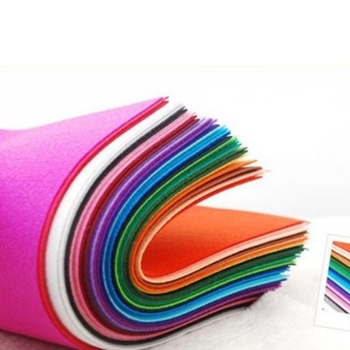 10PCS/Lot Mixed Color 15x15cm Non Woven Felt Fabric DIY Needlework Craft Supplies Eco-Friendly for Sewing Dolls Scrapbook Cloth