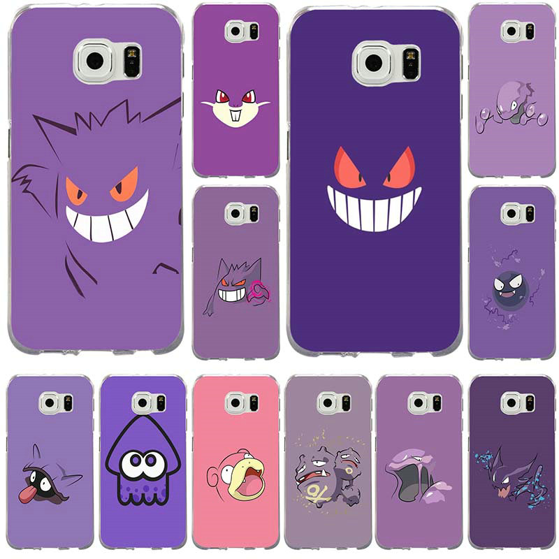 Soft Mobile Phone Cases For Samsung Galaxy Note 2 3 4 5 8 S2 S3 S4 S5 Mini S6 S7 S8 S9 Edge Plus Shell Go Gengar Sinister Nebula