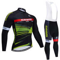 2020 nuevo equipo SRAM Ciclismo JERSEY 20D bicicleta pantalones conjunto Ropa Ciclismo hombre invierno térmico polar pro Maillot de bicicleta Maillot wear