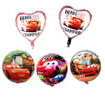 18 inch race car general mobilization aluminum film balloon cartoon car circle McQueen car aluminum foil balloon birthday party image