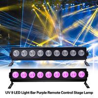 27W UV 9 LED Light Fixtures Portable Blacklight Lamp For UV Poster UV Art Dimmable Ultraviolet Lamp DJ Party EU/US/UK/AU Plug