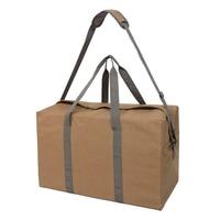 Khaki Wearable Canvas Travel Bag Home Clothing Finishing Storage Bag Anti Theft Canvas Bags TB Sale