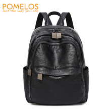 POMELOS Womens Backpack Bag 2019 New Arrival Soft PU Leather Black Girl Functional Ladies Woman Back Pack