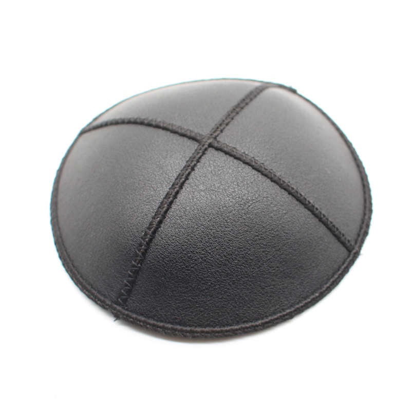 Jewish PU Kippa 15cm Kipa Black