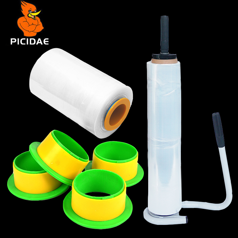 PE Stretch Film Handle Ring Protection Plastic Metal Support Wrap Puller Industry Manual Baler Stretcher Winding Machine Tool