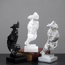 Скульптура тишина это золотые статуи для украшения маска из