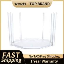 Tenda AC20 Беспроводной маршрутизатор 2,4 г/5G AC2100 двухдиапазонный Wi-Fi 128 М Оперативная память покрытие внешний усилитель сигнала Беспроводной рет...