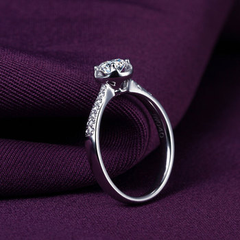18k Gold And White Gold Group Diamond Ring Genuine Platinum Gold Gold Wedding Marriage Couple 2