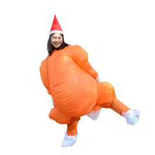 Adults Christmas Inflatable Costume Thanksgiving Turkey Costume Cartoon Walking Doll Holiday Party Fancy Dress Halloween Suit baked doll christmas candy party dress