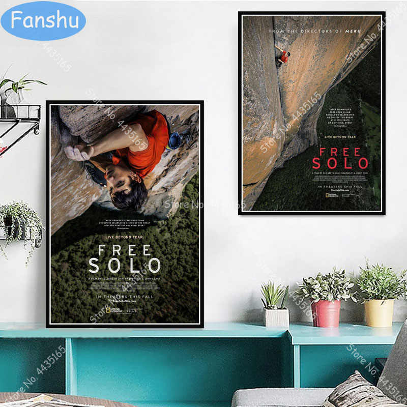 2018 FREE SOLO Movie Film Poster Print A3 A4 A5 Home Decor//Wall Art