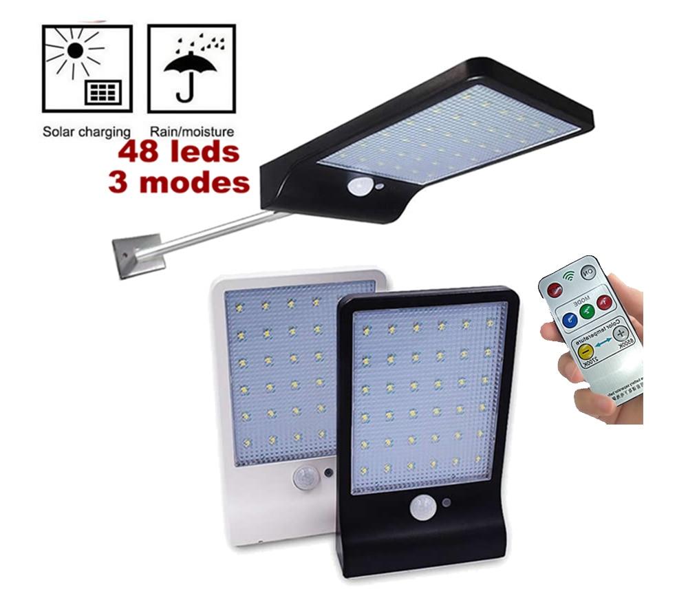 450lm 48 LED Led Solar Light Outdoor Waterproof Lighting for Garden Wall Adjustable Mode Rotable Pole Solar Lamp Emergency Light Solar Lamps     - title=