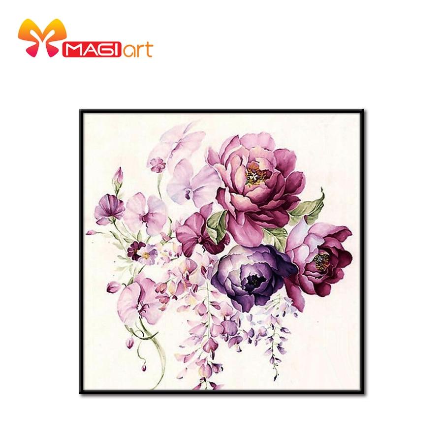 Наборы для вышивки крестиком, наборы для рукоделия 11CT, водорастворимый холст, узор 14CT, цветочный стиль, цветущий flowers NCMF192 Упаковка      АлиЭкспресс