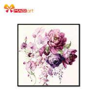 Kreuz stich kits Stickerei hand sets 11CT wasser löslich leinwand muster 14CT Floral stil blühende flowers-NCMF192