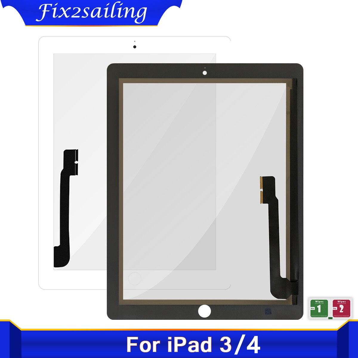 Сенсорный экран Экран Замена для iPad 3 4 iPad3 iPad4 A1403 A1416 A1430 A1458 A1459 A1460 сенсорный экран Внешний цифрователь Сенсор стекло Панель